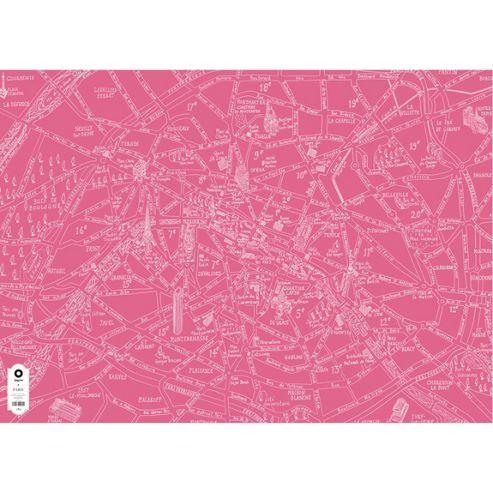Michael A Hill Map Wrap - Paris
