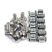 StarTech M6 Mounting Screws and Cage Nuts for Server Rack Cabinet
