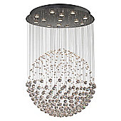 Spectacular Crystal Halogen Ceiling Light with Spheres Hung by Wires