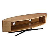 Techlink Ellipse TV Stand for up to 65 inch TV s - Light Oak