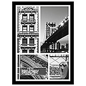New York Framed Multi Print 50x37cm