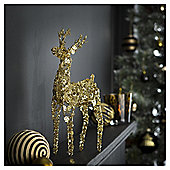 TESCO GOLD SPARKLY REINDEER