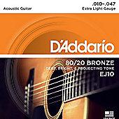 D'Addario 10-47 Acoustic Guitar Strings