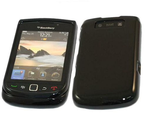 Black Glossy UV SnapGuard Protection Case - BlackBerry 9800 Torch