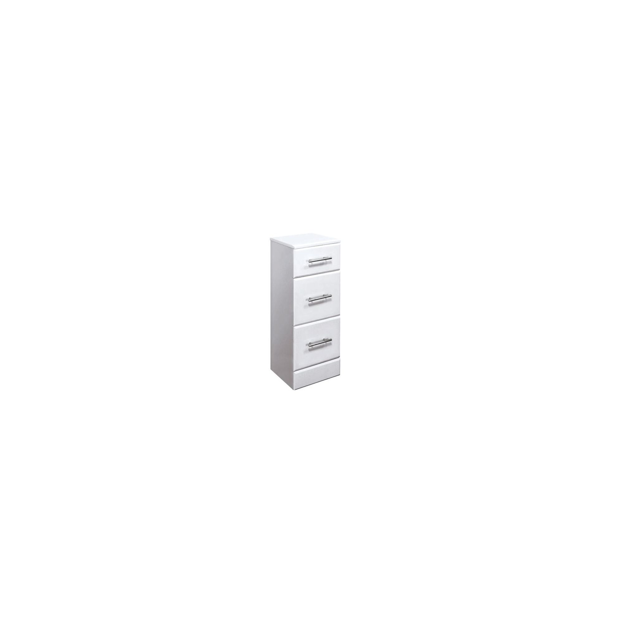 Premier 3 Drawer Vanity Unit High Gloss White 350mm Wide x 330mm Deep