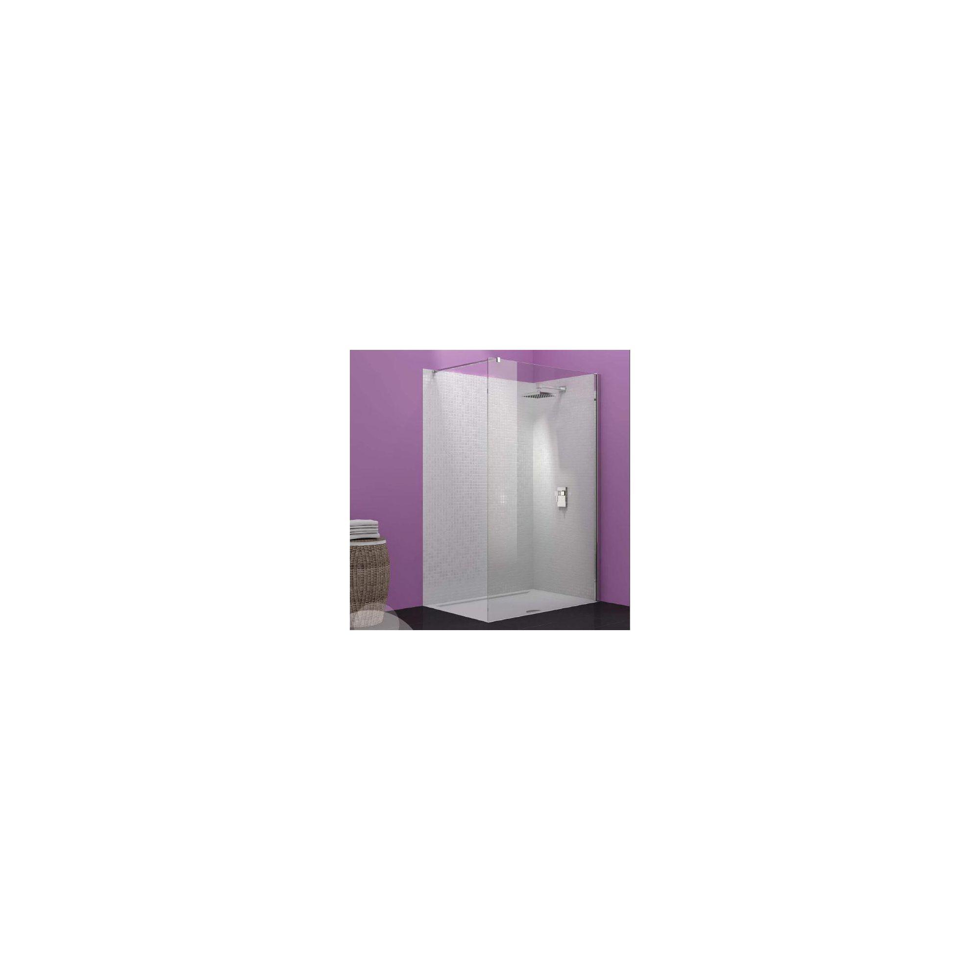 Merlyn Vivid Ten Wet Room Shower Glass Panel 900mm Wide at Tesco Direct