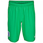 2014-15 England Nike Away Goalkeeper Shorts (Green) - Kids - Green