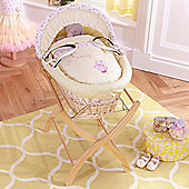 Izziwotnot Humphreys Lottie Fairy Natural Wicker Moses Basket (Princess Primrose)