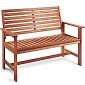 VonHaus 2 Seater Wooden Hardwood Garden Bench