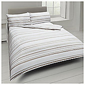 Basic Tonal Stripe Duvet Set - Natural
