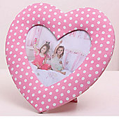 Pink Dotty Heart Children's Photo Frame
