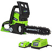 Greenworks 24V Chainsaw c/w 2Ah Battery & Charger