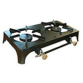 Double cast iron boiling ring camping stove cooker