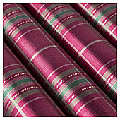Tesco Tartan Christmas Wrapping Paper, 4m