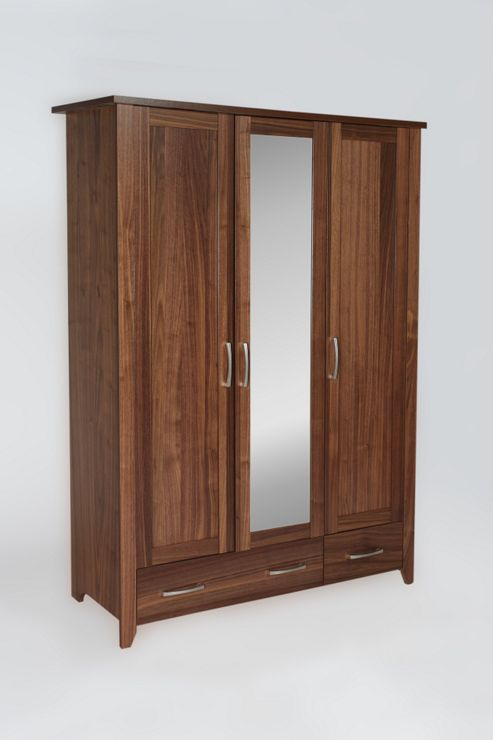 Urbane Designs Tango 3 Door, 1 Mirror and 2 Drawer Wardrobe