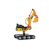 Rolly Metal Excavator with Tank Tracks - CAT Yellow