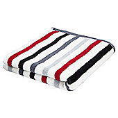 Tesco Multi Stripe Bath Sheet Red