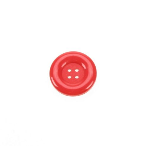 Dill Buttons 23mm Round - Red