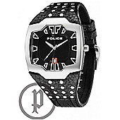 Police Beast Mens Studded Leather Watch - 13634JS-02