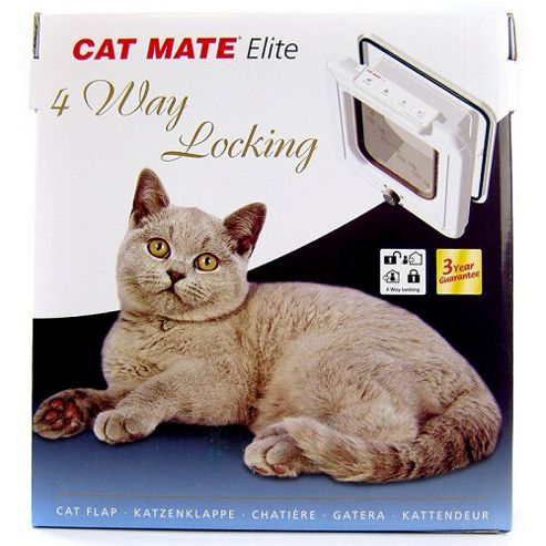 Cat Mate Elite - 4 Way Locking Cat Door White (307w)