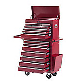 Homcom Rolling 16 Drawers Toolbox Cabinet Storage Roller Red