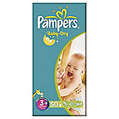 Pampers Baby Dry Size 3+ Essential Pack - 50 nappies