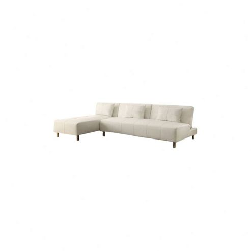 Leader Lifestyle Maison Sofa Bed - White Vinyl Leather