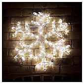 Twinkling LED Christmas Snowflake Light, White 60cm