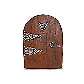 Brown Garden Fairy Door Ornament In Resin - Medium