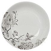 Grey Floral Pasta Bowl, Porcelain