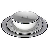 Tesco Porcelain Blue Band 12 Piece, 4 Person Dinner Set