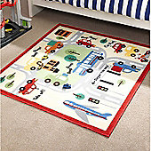 Kiddy Town Road Map Playmat Rug - 133 x 133
