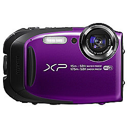 Fuji XP80 Tough Digital Camera, 16.4MP CMOS Sensor, 5x Optical Zoom, 15m Waterproof, Wi-Fi, Purple