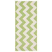 Swedy Mora Green / White Rug - Runner 60 cm x 120 cm (2 ft x 3 ft 11 in)