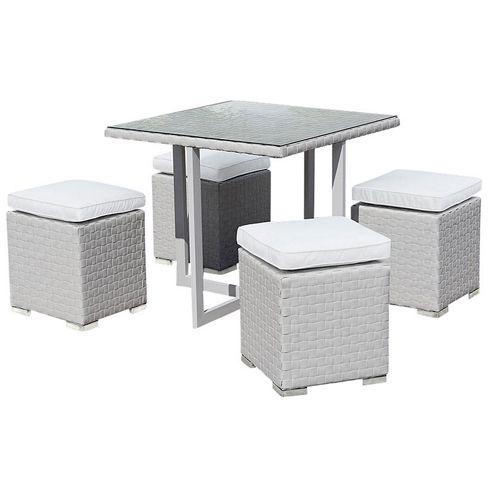 buy cubo grey dining set from our rattan garden furniture. Black Bedroom Furniture Sets. Home Design Ideas