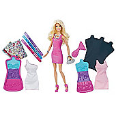 Barbie Fashion Design Plates and Doll