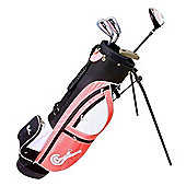 Confidence Fws Girls Junior Golf Right Hand Clubs Set With Bag Age 8-12