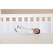 Safe Dreams Safe Breathe 2 Sided Cot Wrap Bumper - White - White