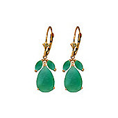 QP Jewellers 7.0ct Emerald Pear Drop Earrings in 14K Rose Gold