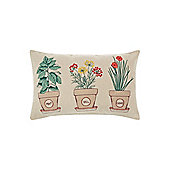 Dickins & Jones Triple Herb Pot Cushion - Cream