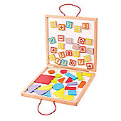 Bigjigs Toys BJ439 Magnetic Numbers and Shapes Case
