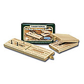Traditional Wooden Folding Cribbage Board - Gibsons Games