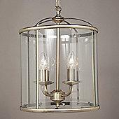 Impex Lighting Orly 2 Light Hanging Lantern - Antique Brass - 41 cm H x 33 cm W