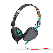 Navigator On-Ear Headphones with Mic Santa Fe Grey/Red/Aqua
