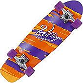 Voltage Cruiser Complete Longboard - Orange/Purple