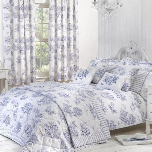 Buy Julian Charles Toile Blue Luxury Jacquard Duvet Cover