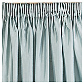 Tesco Faux Silk Pencil Pleat Curtains W112xL137cm (44x54''), Eau De Nil
