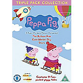 Peppa Pig - Balloon Ride / Cold Winter Day / Stars (DVD Boxset)