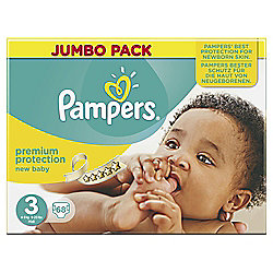 Pampers New Baby Size 3 Jumbo Box 68 Nappies