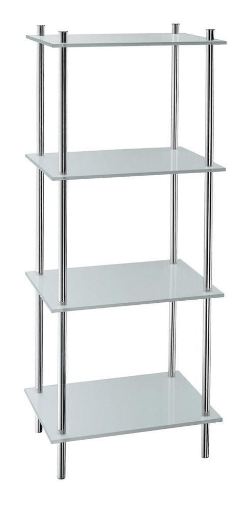 Buy Smedbo Outline Free Standing Bathroom Shelf In Frosted